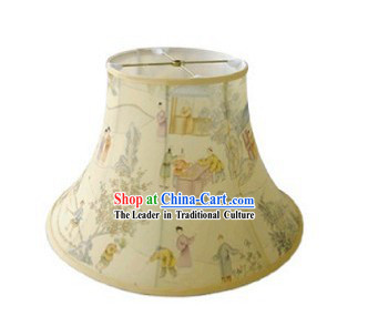 Chinese Classical Hand Painted Silk Lampshade
