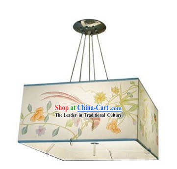 Chinese Classical Hand Painted Silk Chandelier