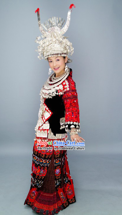 Chinese Ayouduo Miao Minority Clothing