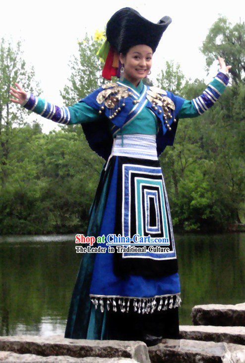 Chinese Traditional Ayouduo Miao Suit