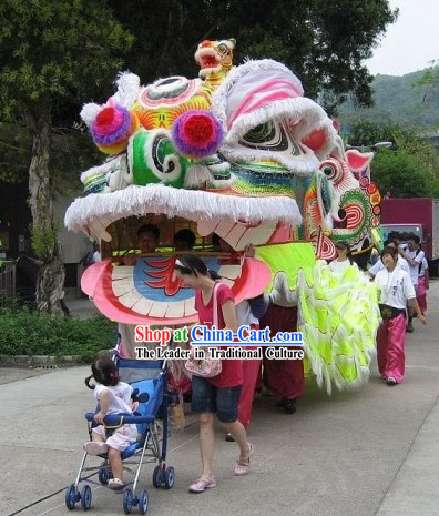 Super Large Top Competition and Parade Lion Dance Costume Complete Set