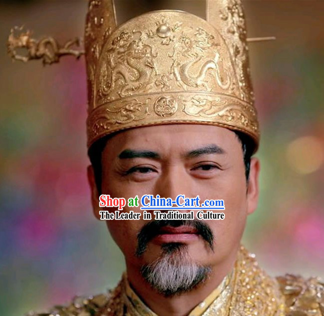 Chinese Classic Golden Flower Emperor Dragon Coronet