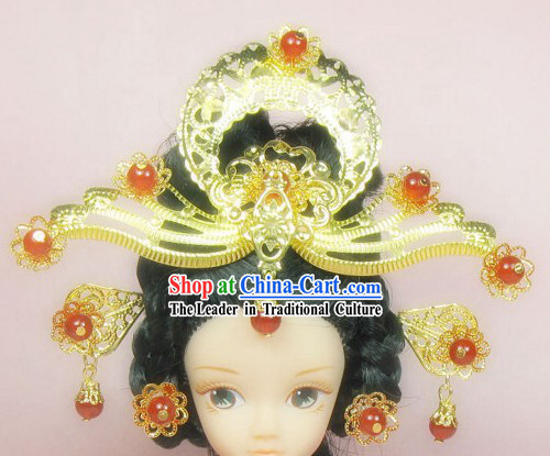 Traditional Chinese Princess Feng Guan Hair Decoration