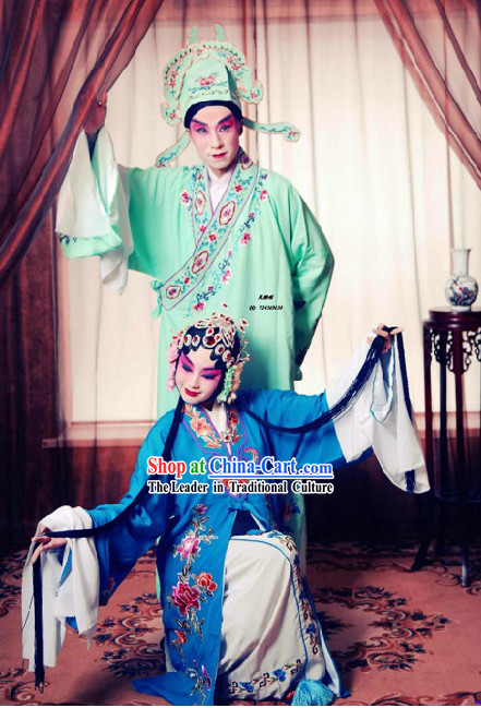 Chinese Opera Li Yuan Couple Costumes 2 Sets for Men and Women