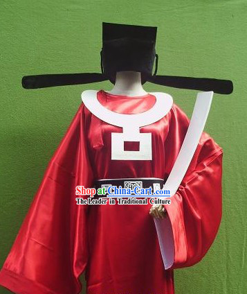 Song Dynasty Official Costumes and Hat Full Set