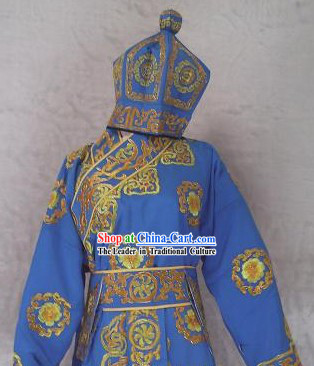Chinese Opera Wu Sheng Men Fighting Costumes and Hat