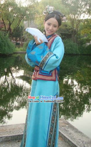 China Qing Dynasty Palace Lady Costumes Full Set