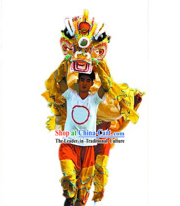 Traditional Chinese Kylin Dance Costume Full Set