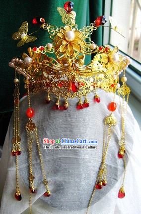 Ancient Chinese Wedding Headpiece Complete Set