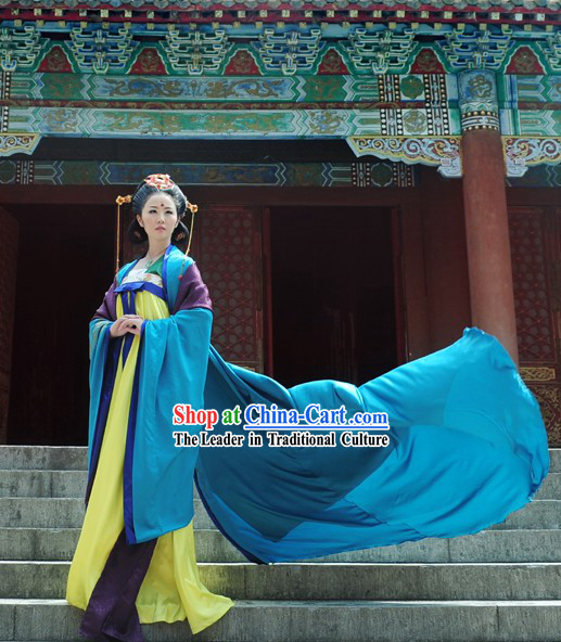 Ancient Chinese Tang Dynasty Empress Attire Complete Set