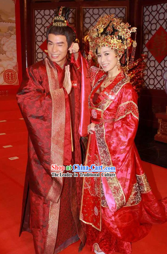 Ancient Chinese Princess Wedding Dress and Groom Wedding Dress