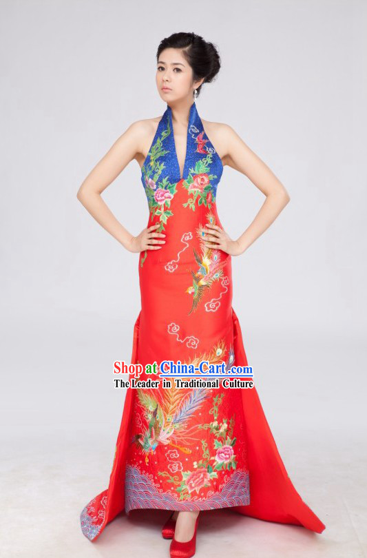 Chinese Classical Phoenix Wedding Dress