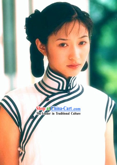 Traditional Chinese White Qipao