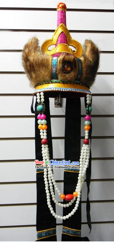 Chinese Women Mongolian Fur Hat