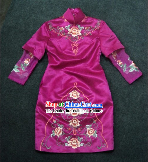 Chinese Classical Wedding Evening Chengsam Dress