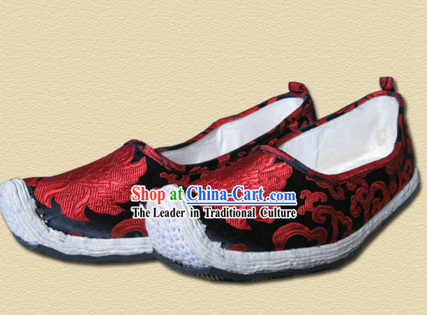 Ancient Chinese Bow Shape Shoes for Men