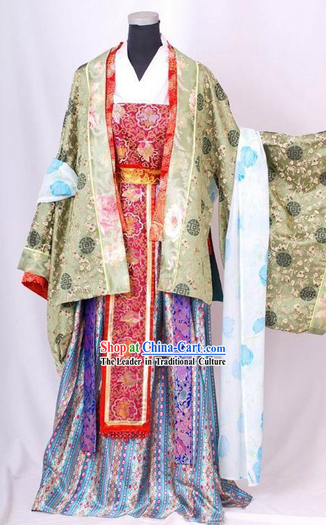 Ancient Chinese Wedding Clothing Complete Set for Brides