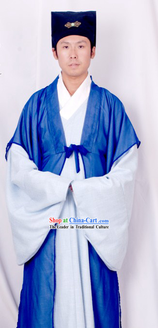 Ancient Young Scholar Xu Xian Costume and Hat Complete Set