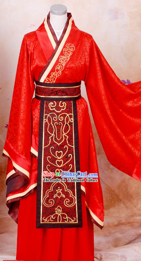 Ancient Chinese Wedding Wear for Bridegrooms
