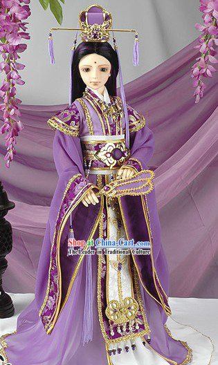 Ancient Chinese SD Prince Costumes and Hat Complete Set for Real People