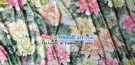 Tang Dynasty Style Big Peony Silk Fabric