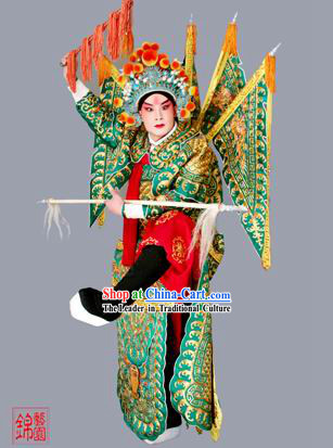 Chinese Opera Armor Costume and Hat