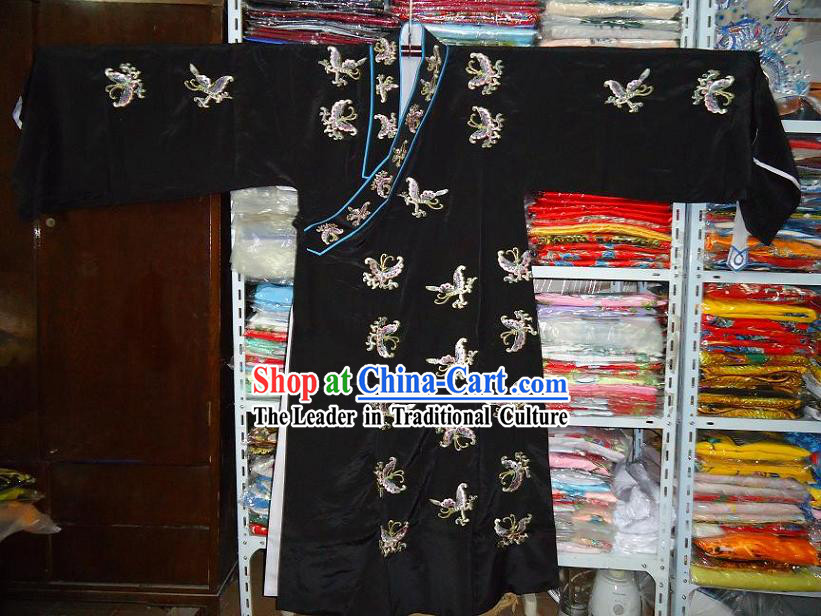 Chinese Beijing Opera Wu Sheng Embroidered Flower Robe for Men
