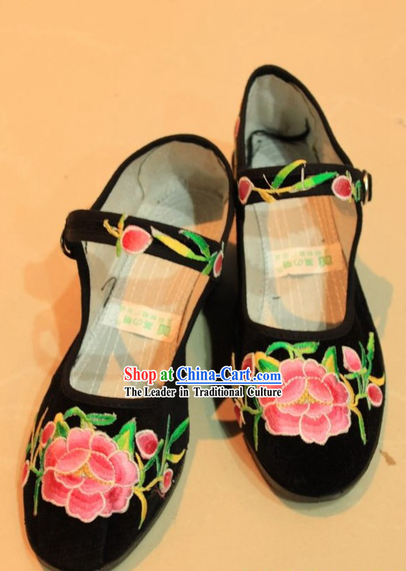 Traditional Chinese Ethnic Minority Embroidery Shoes