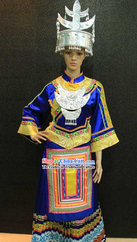 Chinese Miao Ethnic Costumes and Hat