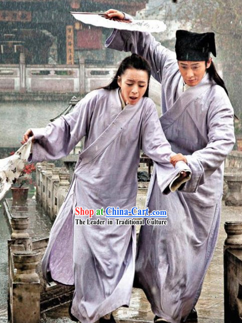 Jin Dynasty Liang Zhu Chinese Butterfly Lovers Costume for Men