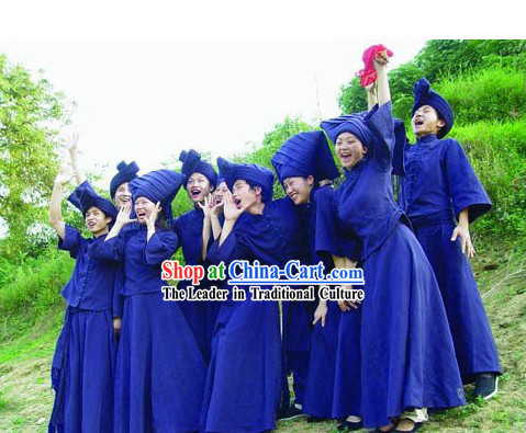 Chinese Ethnic Zhuang Minority Costumes