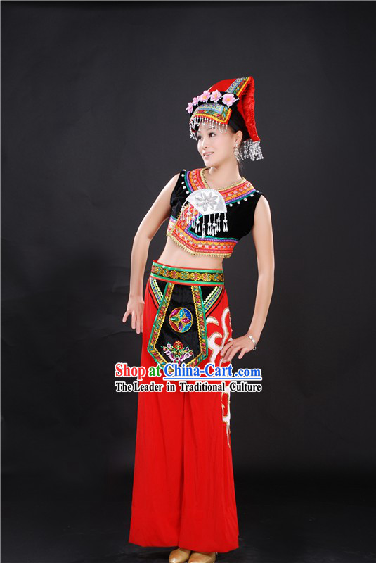 Chinese Ethnic Clothing and Hat for Women