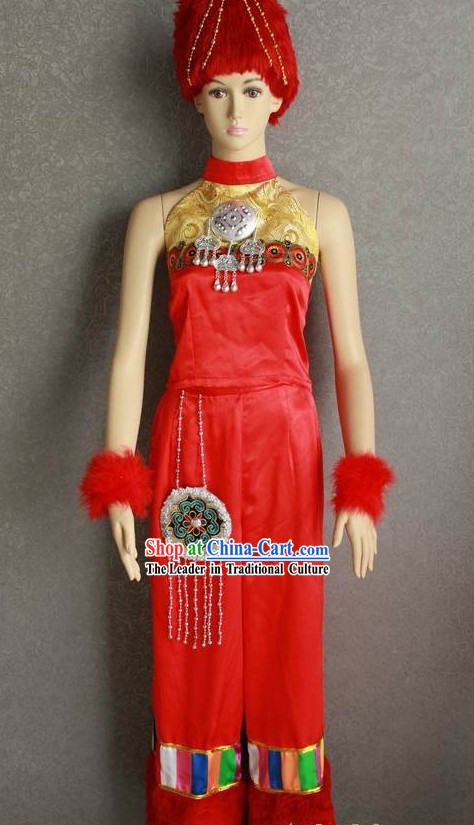 Traditional Chinese Minority Dress Complete Set