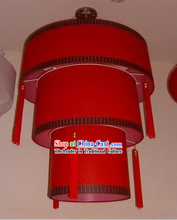 Lucky Red Chinese Style Three Layers Lantern