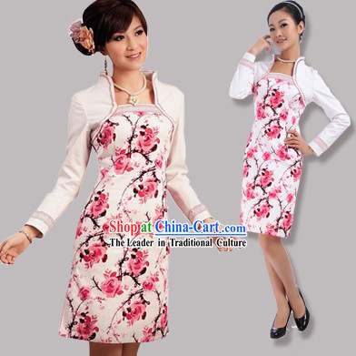 Chinese Autumn Long Sleeve Cheongsam