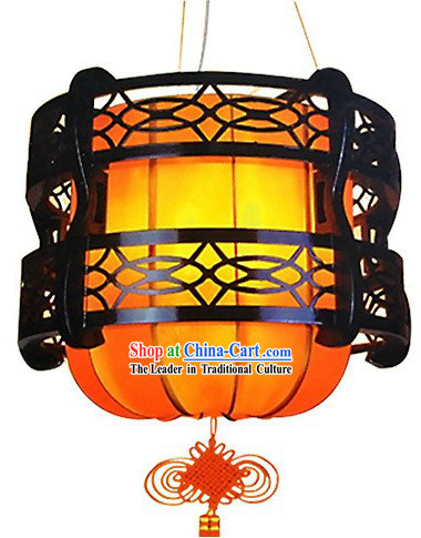 Traditional Chinese Parchment Wooden Lantern