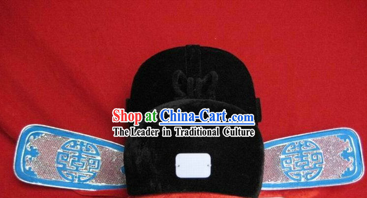 Ancient Chinese Court Black Guaze Cap
