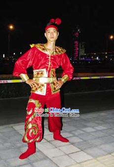 Beijing Olympic Games Opening Ceremony Dragon Dancer Uniform Complete Set