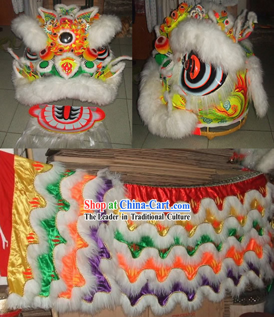 Classical Dragon Phoenix Lion Dance Costume Complete Set