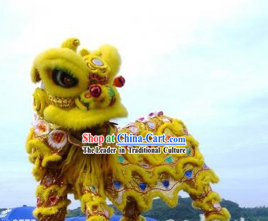 Beijing Olympics Opening Ceremony Sheep Fur Lion Dance Costume Complete Set