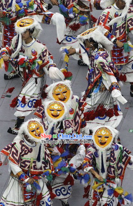 Beijing Olympic Games Opening Ceremony Tibetan Mask Dance Costumes