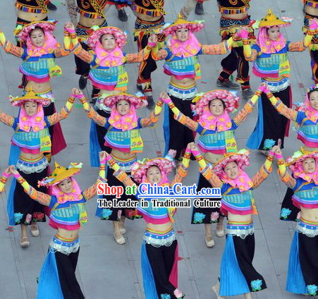Beijing Olympic Games Opening Ceremony Huian Women Dance Costumes Complete Set