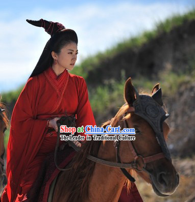 Ancient Chinese Red Hanfu Clothing for Women