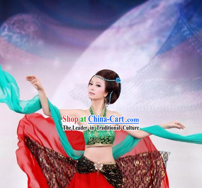 Ancient Chinese Beauty Dance Costumes for Women