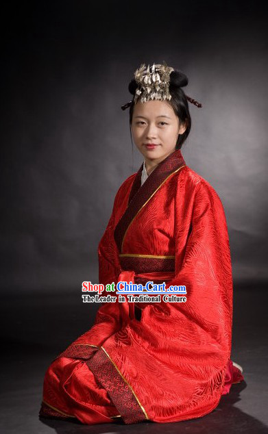 Ancient Chinese Hanfu Wedding Dress for Women