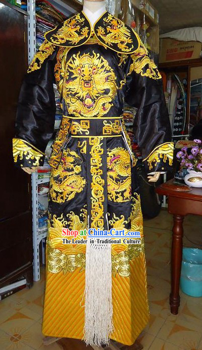 Peking Opera Embroidered Dragon Costume Complete Set