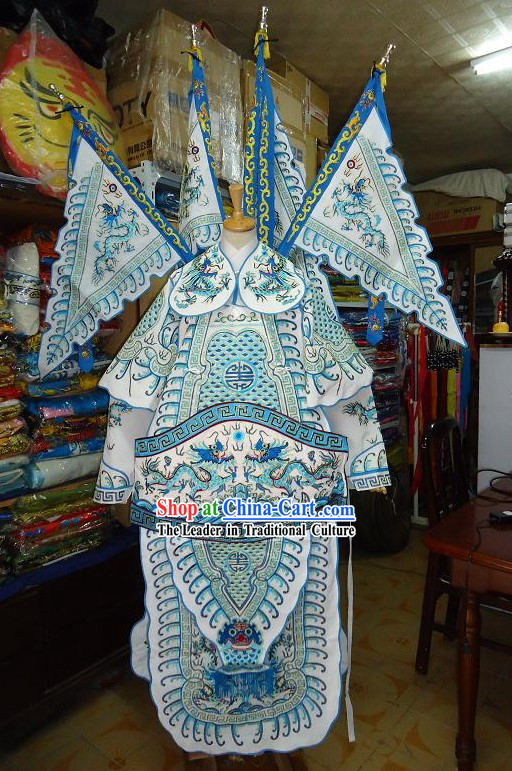 Chinese Classic Beijing Opera Costume-Woman Da Kao with Flags