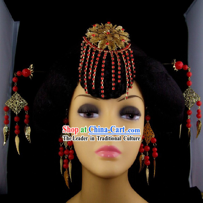 Traditional Chinese Hanfu Hair Accessories Set