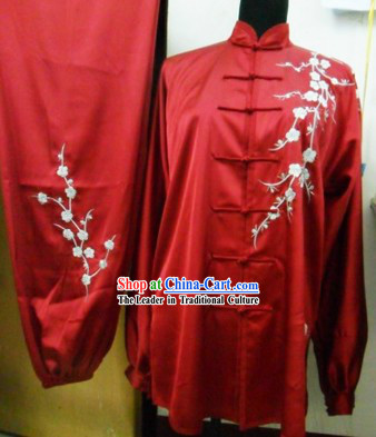 Traditional Chinese Long Sleeve Silk Kung Fu Uniform