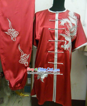 Chinese Silk Phoenix Kung Fu Uniforms for Women